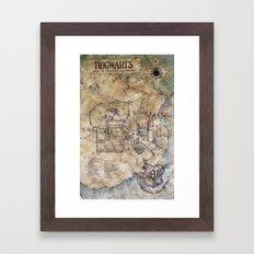 Hogwarts Map Framed Art Print