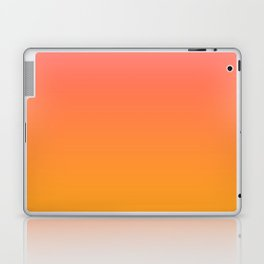 Pantone Living Coral 16-1546 & Pantone Radiant Yellow 15-1058 Ombre Gradient Blend Laptop & iPad Skin