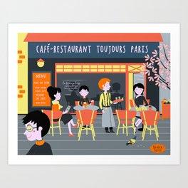 Café de Paris Art Print