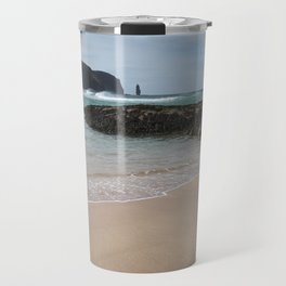 Sandwood Bay with Sea Stack Travel Mug