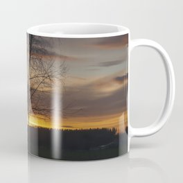Sunset at the end of town Coffee Mug