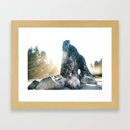 Protector Of Ruby Beach Framed Art Print