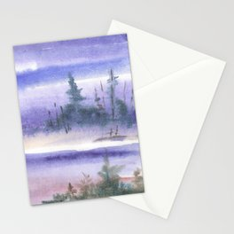 Wintery Taiga Stationery Cards