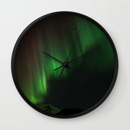 Northern Lights in Norway 02 Wall Clock
