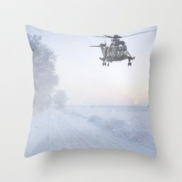 Jungly In Winter Throw Pillow