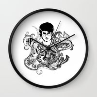 harry potter Wall Clocks featuring Harry Potter by Ink Tales