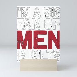 Bagpiper Gift Fan Of Men In Kilts Bagpipe Player Mini Art Print