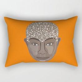 brown visage Rectangular Pillow