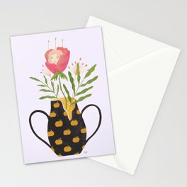 The Girl and The Broken Vase Stationery Cards