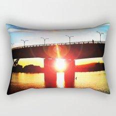 Queensway Bridge at Sunset Rectangular Pillow