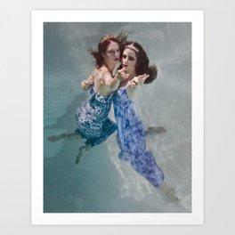 Siren Sisters Art Print