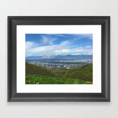 Salt Lake City Framed Art Print