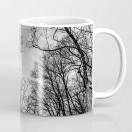 Black and white haunting trees Coffee Mug
