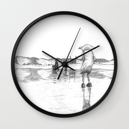 """Death of a Free Elf"" - Dobby in Deathly Hallows Wall Clock"