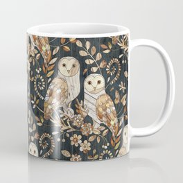 Wooden Wonderland Barn Owl Collage Coffee Mug
