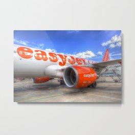 EasyJet Airbus A320 Metal Print