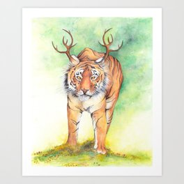 What If...?? Tigers Had Antlers! Art Print