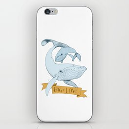 Big Love (gold and blue) Humpback Whales iPhone Skin