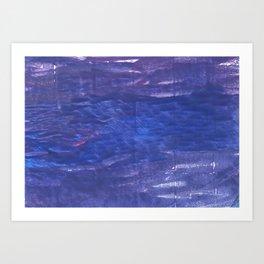 Blue purple abstract Art Print