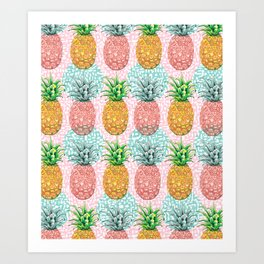 Pineapple Candy Art Print