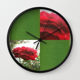 Red Rose with Light 1 Blank Q5F0 Wall Clock