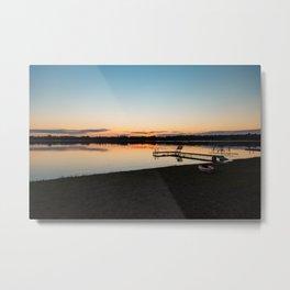 Sunset Over Lake 5 Metal Print