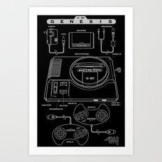 Mega Drive Art Print
