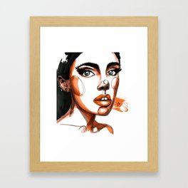 Brunette Framed Art Print