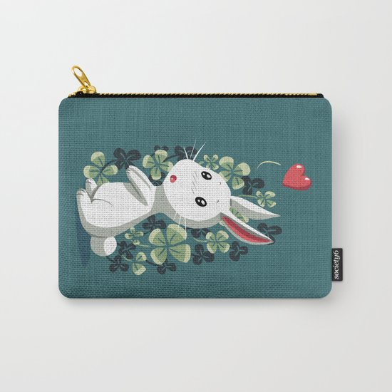 Clover Bunny Carry-All Pouch