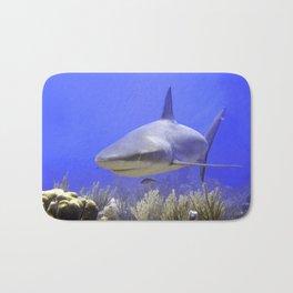 Shark Swimming Into Shot Bath Mat