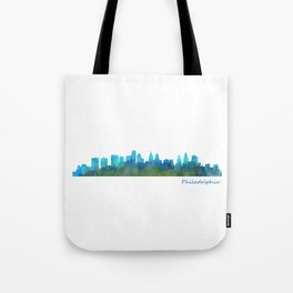 Philadelphia City Skyline Hq V1a Tote Bag