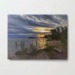 Stormy Shoreline - Home Decor. Metal Print
