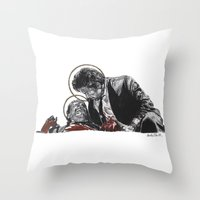 reservoir dogs Throw Pillows featuring Reservoir Saints by Rachel Morgan Kitti