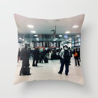 train Throw Pillows featuring train  by Anatomy|Geography