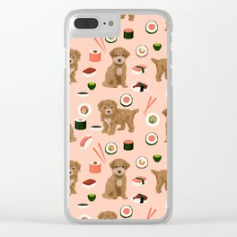 Bichpoo sushi dog breed cute pet portrait pet friendly pattern dog lover gifts Clear iPhone Case