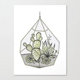 Succulent Terrarium Canvas Print