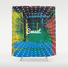 Color Chrome - sweet graphic Shower Curtain