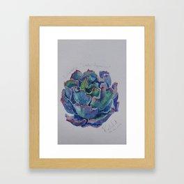 Succulent watercolor1 Framed Art Print