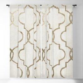 Paris Apartment White Blackout Curtain