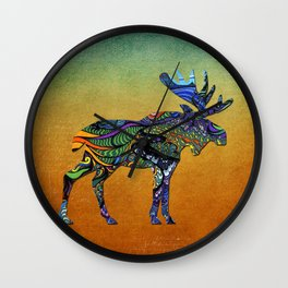 Designer Moose * Wall Clock