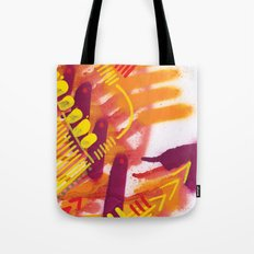 Yellow on Orange Tote Bag