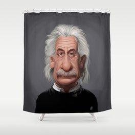 Celebrity Sunday Albert Einstein Shower Curtain