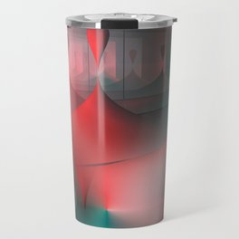 mirrored globs red and green Travel Mug