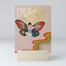Remember the pleasue Mini Art Print