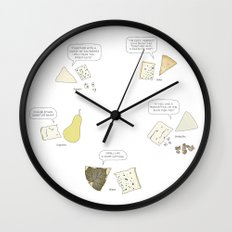 Blue Cheese Talk Wall Clock
