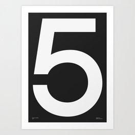 No. 5 — Black Art Print