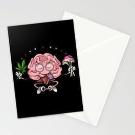 Trippy Psychedelic Brain Stationery Cards