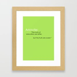 Aristotle Quote Framed Art Print