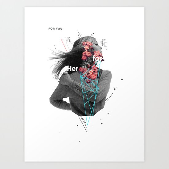For Her Art Print