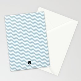 U12: postal blue Stationery Cards